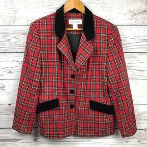 VTG Norton McNaughton Plaid Wool Blend Blazer
